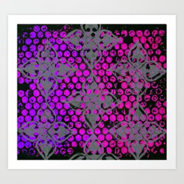 Neon Dots Art Print