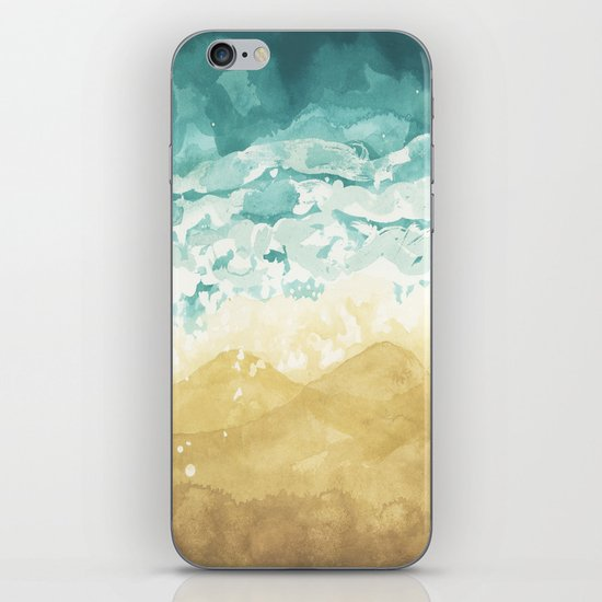 Minimalist Shore - Beach Painting iPhone & iPod Skin