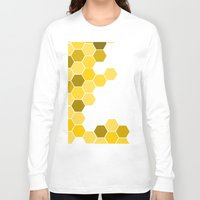 honeycomb Long Sleeve T-shirts featuring Honeycomb by KelC