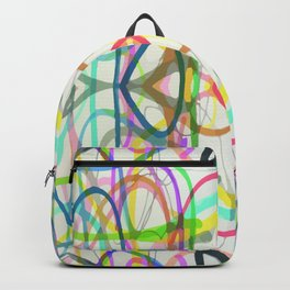 scribble, scribble on the wall Backpack
