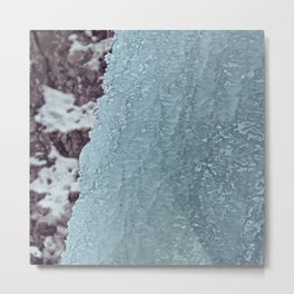 Ice Waterfall Metal Print