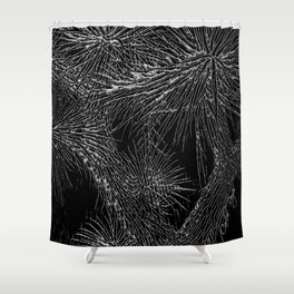 Joshua Tree Silver by CREYES Shower Curtain