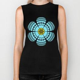 Hippie Geometric Flower Biker Tank