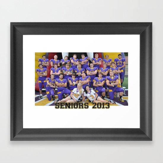 seniors 2013 Framed Art Print