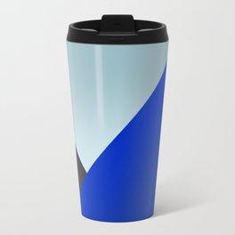 Blue Triangles Travel Mug
