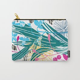 Stylized leaves and flowers Carry-All Pouch