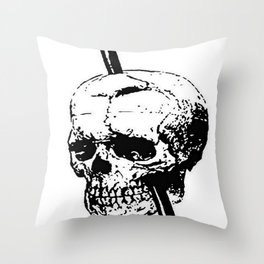 The Skull of Phineas Gage Vintage Illustration Throw Pillow
