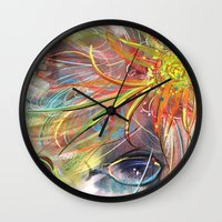 princess bride Wall Clocks featuring Bride by Andrea Montano