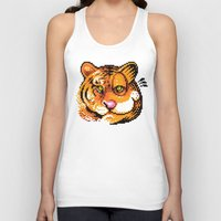 tigers Tank Tops featuring 2 Tigers by Chawalit Jitsanorh