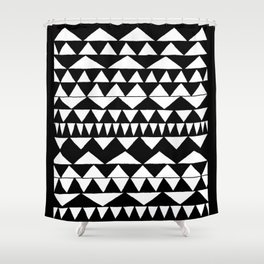 Black Triangles Shower Curtain