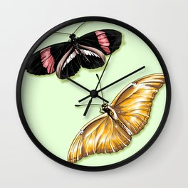 Papillon jaune Wall Clock