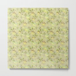 Greenish floral pattern . Metal Print
