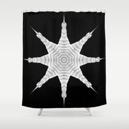 Ninja Star 5 Shower Curtain