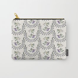 Natural Olive Leaf Berry Birds on Branch Carry-All Pouch