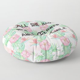 Surfer girl quotes Floor Pillow