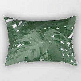 Monstera Jungle Paint Rectangular Pillow