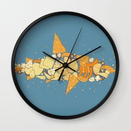 Snack Attack Wall Clock
