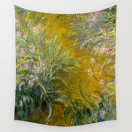 """Claude Monet """"The Path through the Irises"""", 1914-1917 Wall Tapestry"""