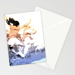 Euphoria, happy kid jumping in the air Stationery Cards