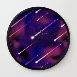 Meteor Shower Pattern 1 Wall Clock