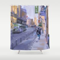 urban Shower Curtains featuring Urban by pabpaint