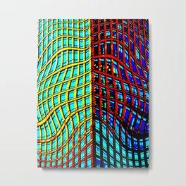 Collapsing Skyscraper Metal Print