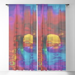 Strange Moon Sheer Curtain