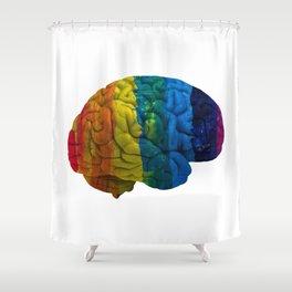 my gay brain Shower Curtain