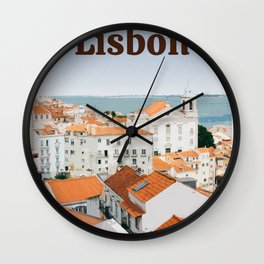 Visit Lisbon Wall Clock
