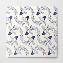 Japanese Koi Fish Pattern Metal Print