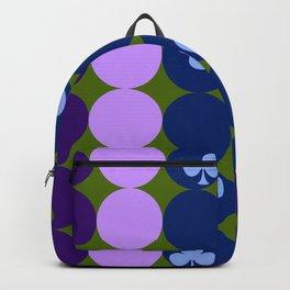 Blue clovers and purple haze Backpack