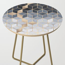 Soft Blue Gradient Cubes Side Table