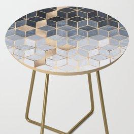 Soft Blue Gradient Cubes Side Table