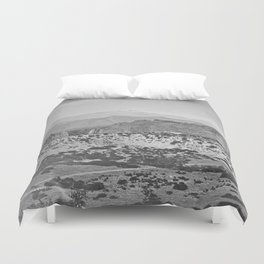 Pikes Peak and the Garden of the Gods, looking over the Gateway. Duvet Cover