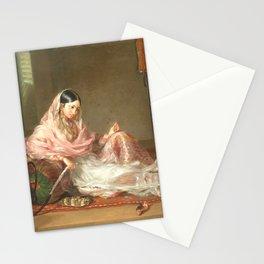 Muslim Lady Reclining - Renaldi Stationery Cards