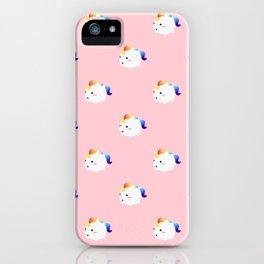Kawaii rainbow fattycorn pattern iPhone Case