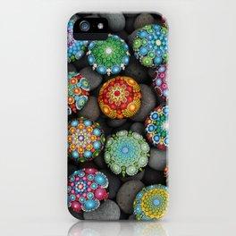 Mandala Stones multi iPhone Case