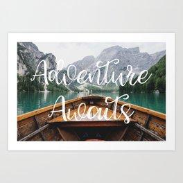 Live the Adventure - Adventure Awaits Art Print