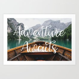 Live the Adventure - Adventure Awaits Art Print