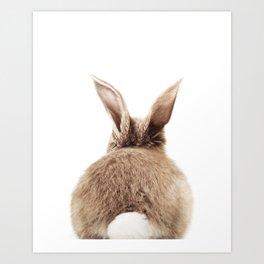 Bunny Back Art Print