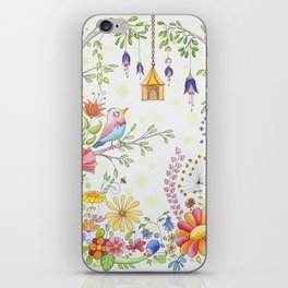 garden and bird iPhone Skin