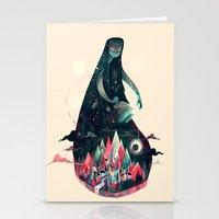 kpop Stationery Cards featuring Night Time. by Karl James Mountford