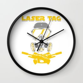 Laser Tag Game Team Laser Guns Fire Shooting Gift Wall Clock
