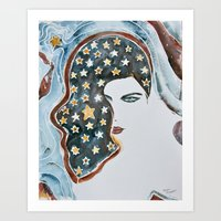 american beauty Art Prints featuring American Beauty by Mona Mansour Jandali