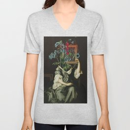 Florales Portrait Disaster Unisex V-Neck