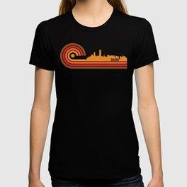 Retro Style Salina Kansas Skyline T-shirt