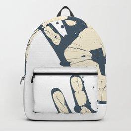 Handabdruck grau Backpack