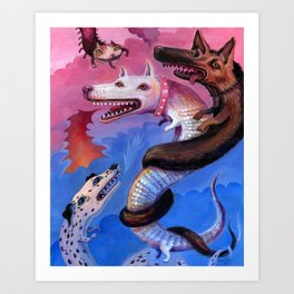 Dragon Play Art Print