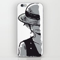 luffy iPhone & iPod Skins featuring Sad Luffy by cici22