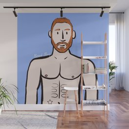 Beard Boy: Michael Wall Mural